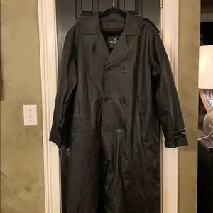 Leather Oscar Piel coat XL